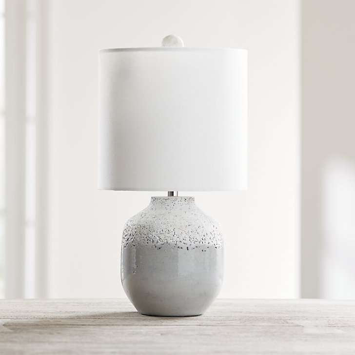 Quinn Grey And White Table Lamp Reviews Crate And Barrel White Table Lamp Table Lamp Crate And Barrel