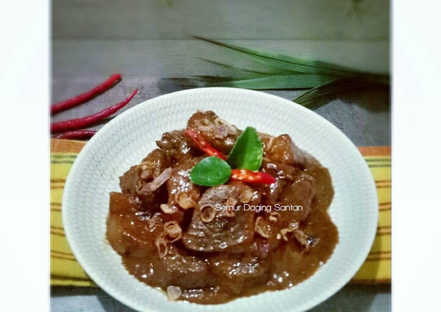 Resep Semur Daging Santan Oleh Rini Julia Resep Semur Daging Masakan Daging