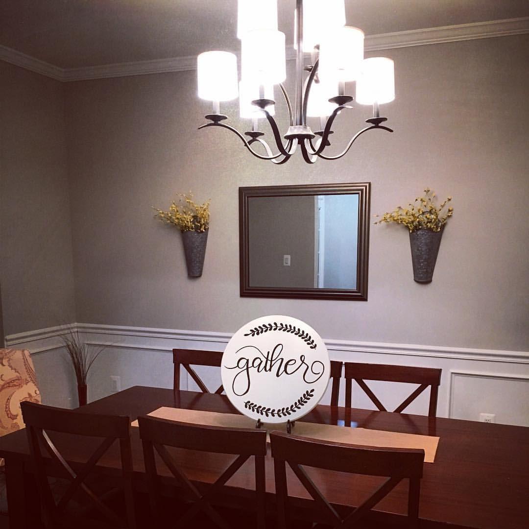 Gather sign + dining room decor + wall decor