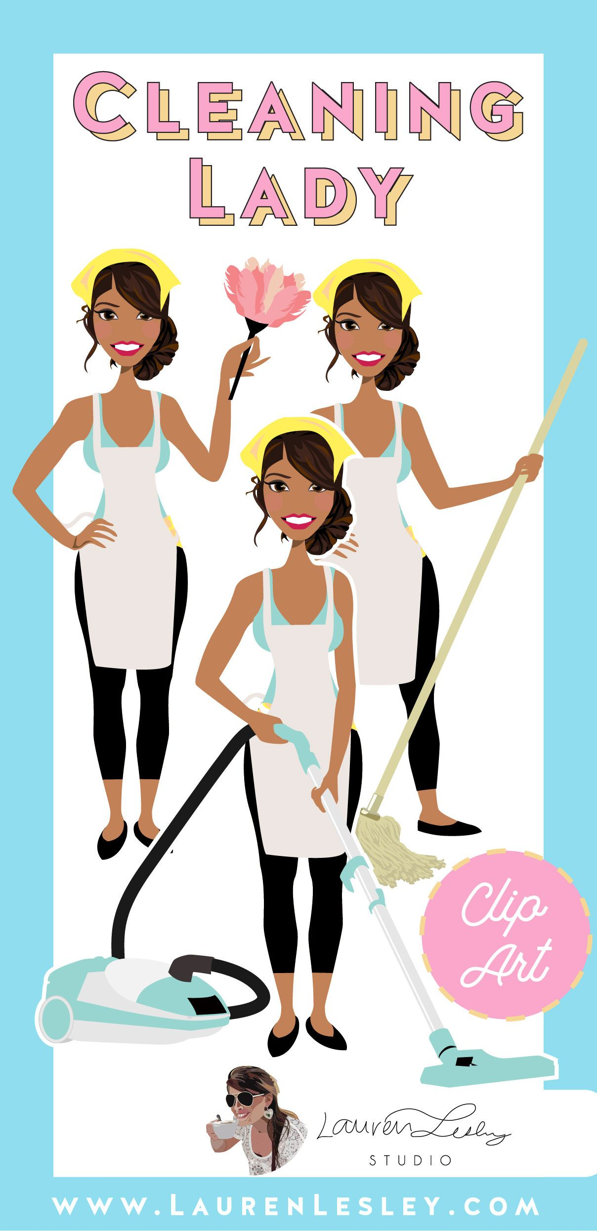 Cleaning lady graphics cleaning lady illustration