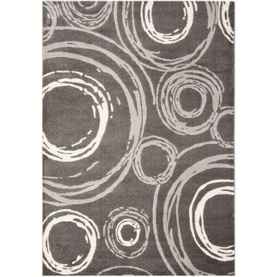 Safavieh Porcello Dark Grey 8 Ft X 11 Ft 2 In Area Rug Prl3727b 8 The Home Depot Dark Gray Area Rug Area Rugs Geometric Area Rug