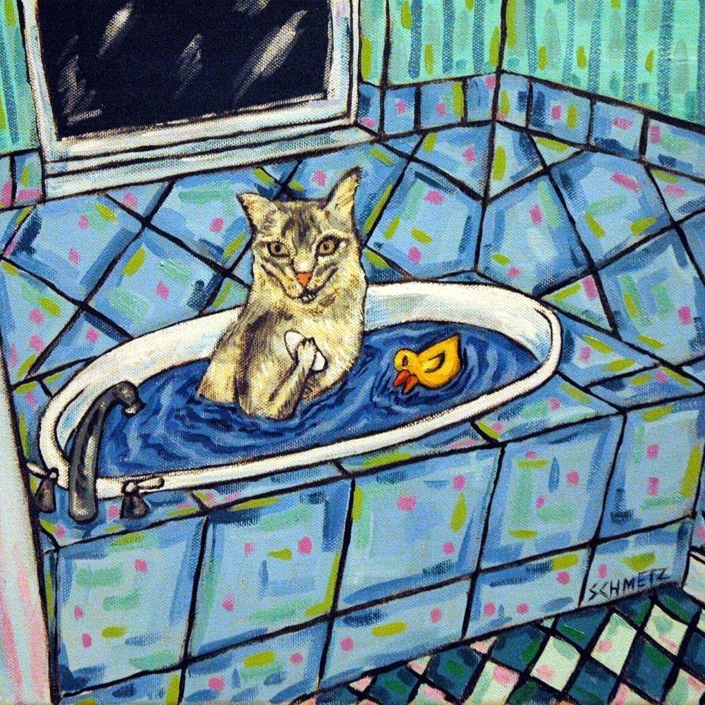 Somali Cat art tile coaster gift bath bathroom tile modern gifts