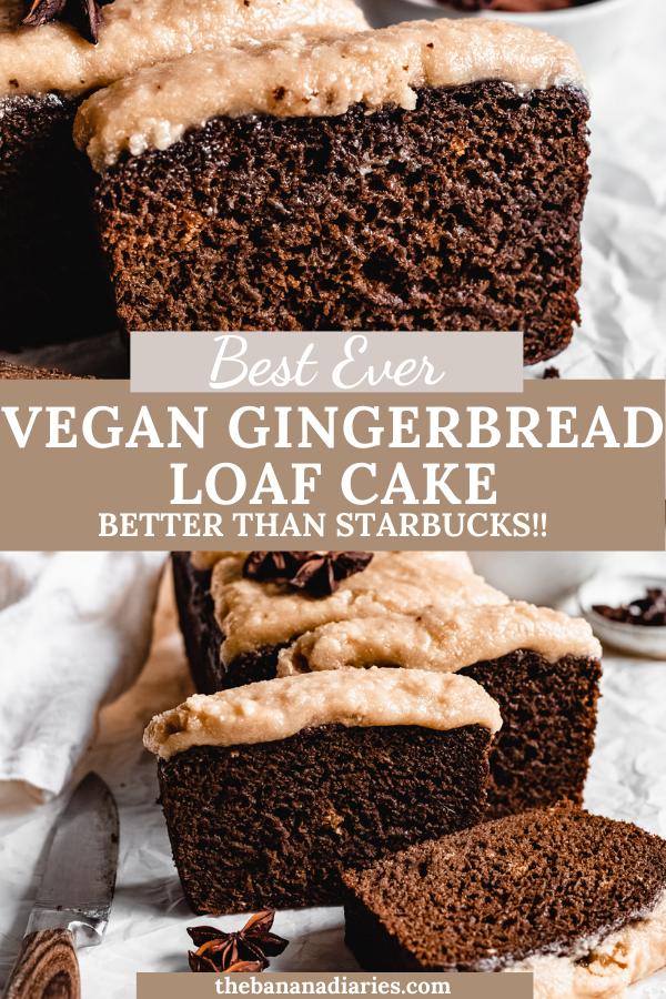 Vegan Gingerbread Loaf Cake Oil Free Low Sugar The Banana Diaries Recipe In 2020 Vegan Gingerbread Vegan Dessert Recipes Vegan Desserts