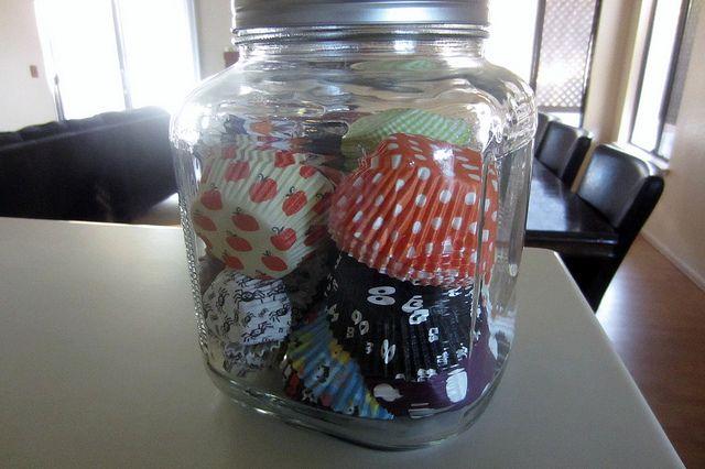 Storage: Cupcake liners jar