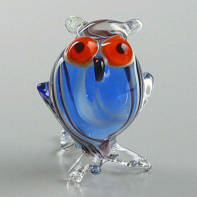 Night Owl Miniature Glass Figurine
