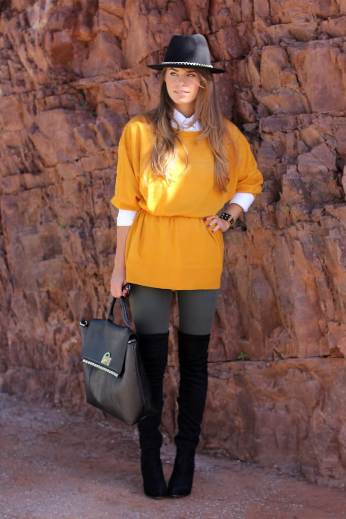 Mustard maxi-sweater » Seams for a Desire