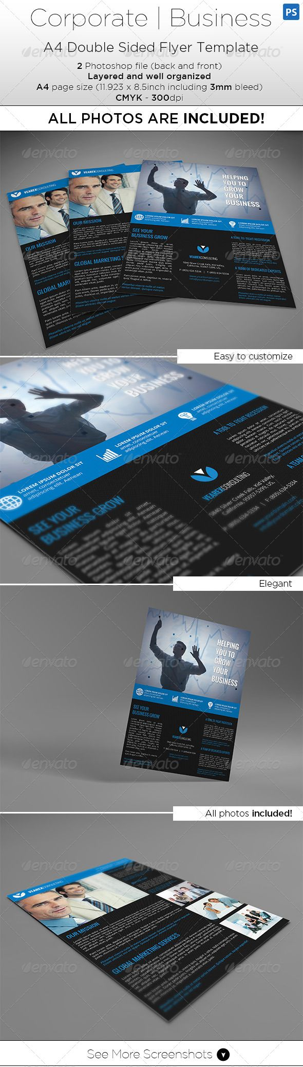 A4 Double Side Flyer Template All