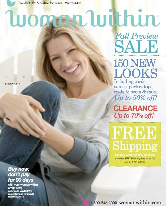 Woman Within Fall Preview Sale Catalog