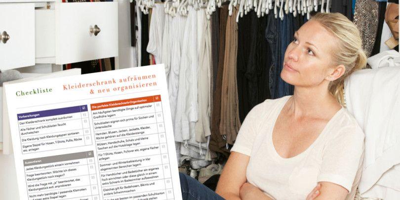 Inspirational Checkliste Kleiderschrank aufr umen u neu organisieren Minimalismus Fr hjahrsputz