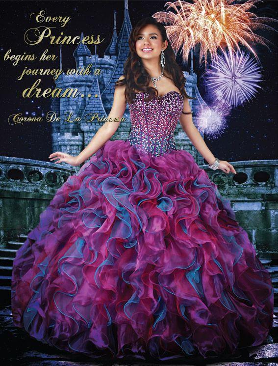 Our Corona De La Princesa Gown 41021 Disney Royal Ball Quinceanera ...