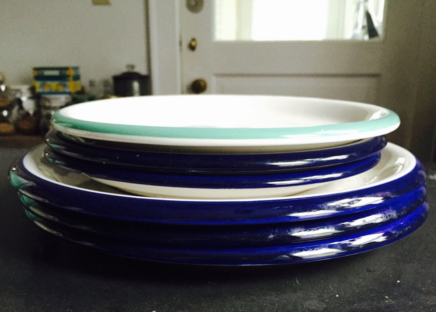 Set of 6 Crown Corning Plates - Indonesia 3 Dinner 3 Salad- Cobalt & Set of 6 Crown Corning Plates - Indonesia 3 Dinner 3 Salad- Cobalt ...