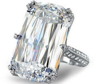 A truly rare and luxurious platinum ring it boasts of a 31 carat