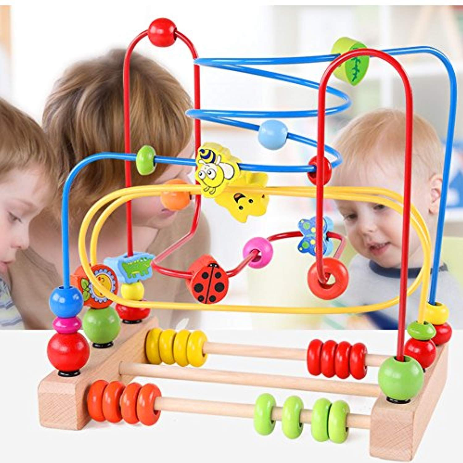 4b34840fc4b7 QZM interactive toddler toys Wooden Baby Toddler Circle First Bead Maze for Boys  Girls age 3 4 5 -- Read more at the image link. (This is an affiliate link)