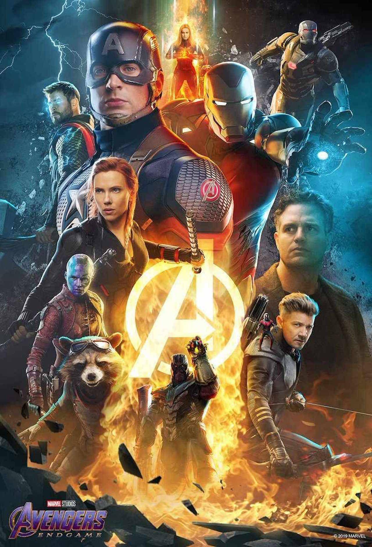 Avengers Endgame Marvel Superhero Movie Characters Captain America Art Poster