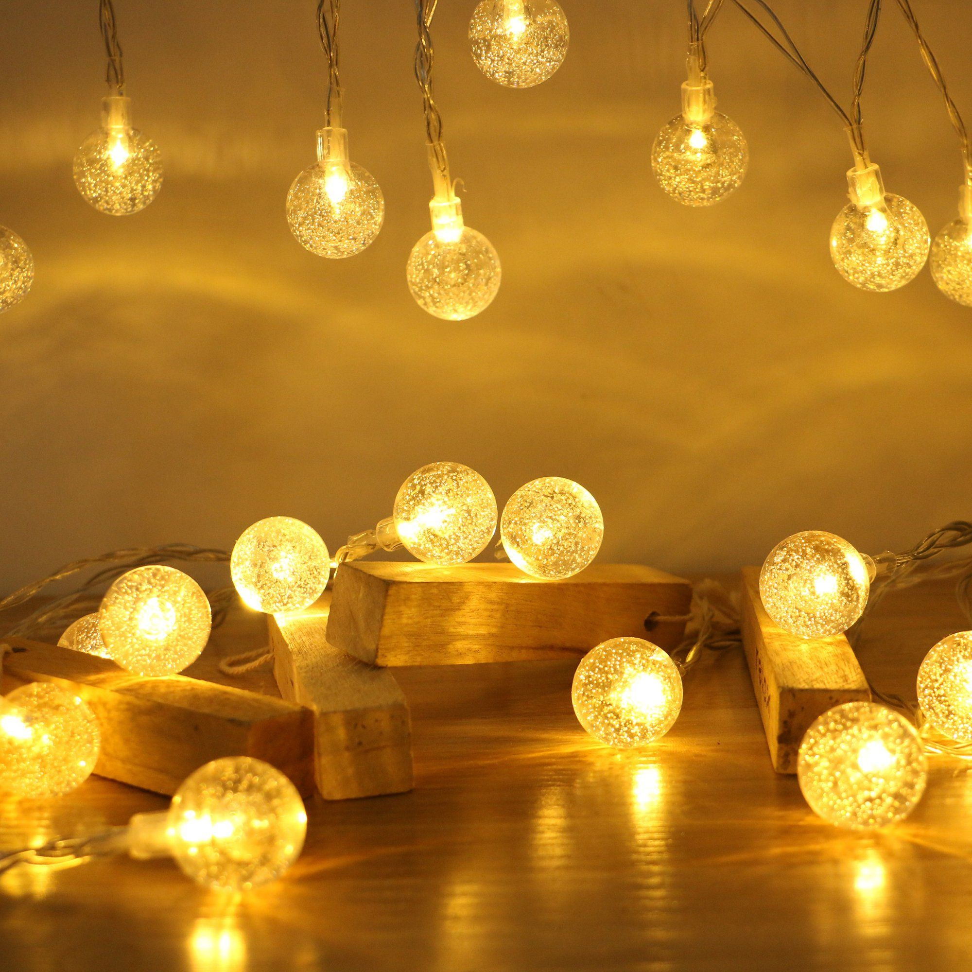 Starry String Lights Enchanting Globe String Lights Naturous Crystal String Lights 30 Led Design Inspiration