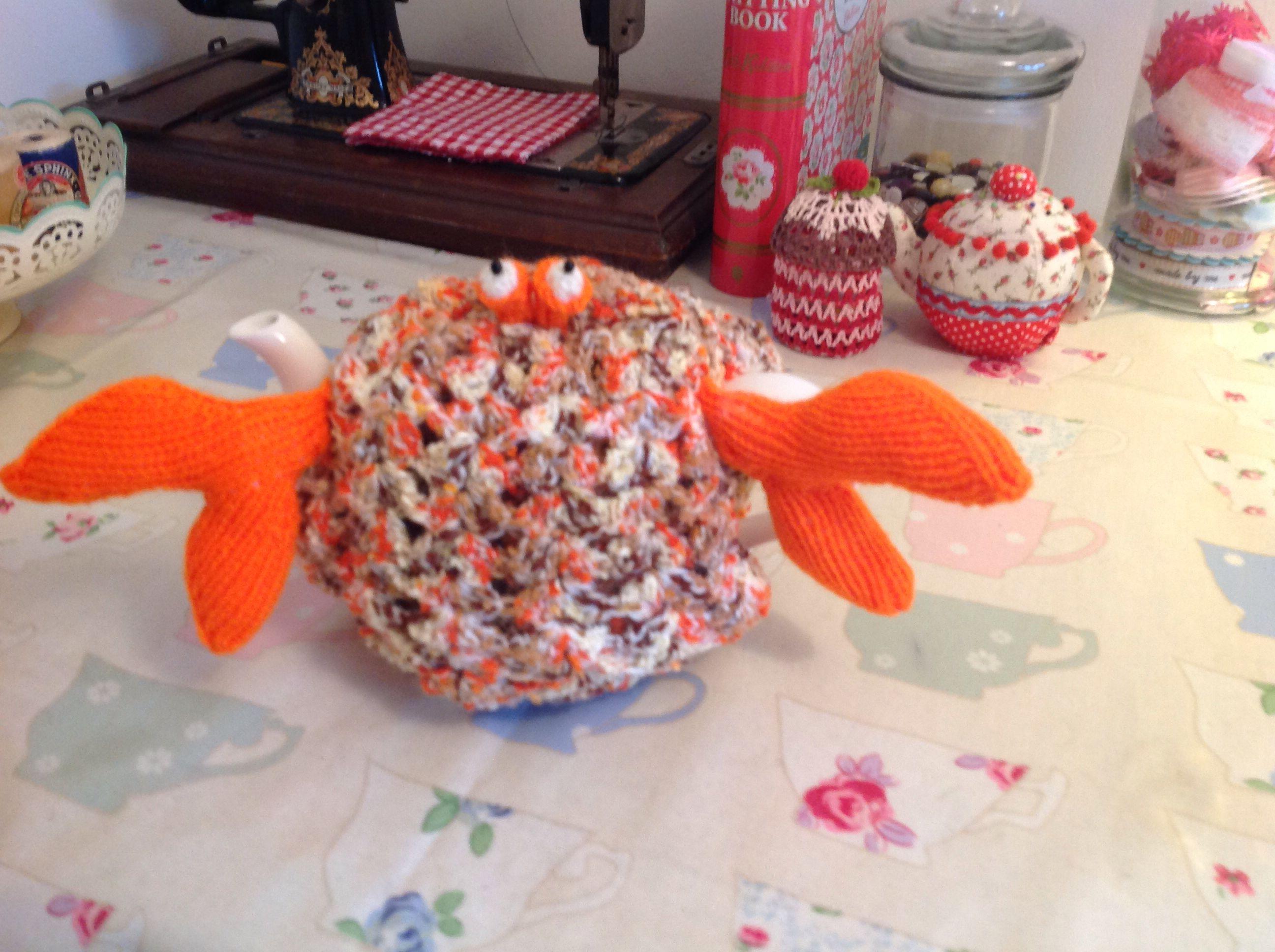 New crab tea cozy!