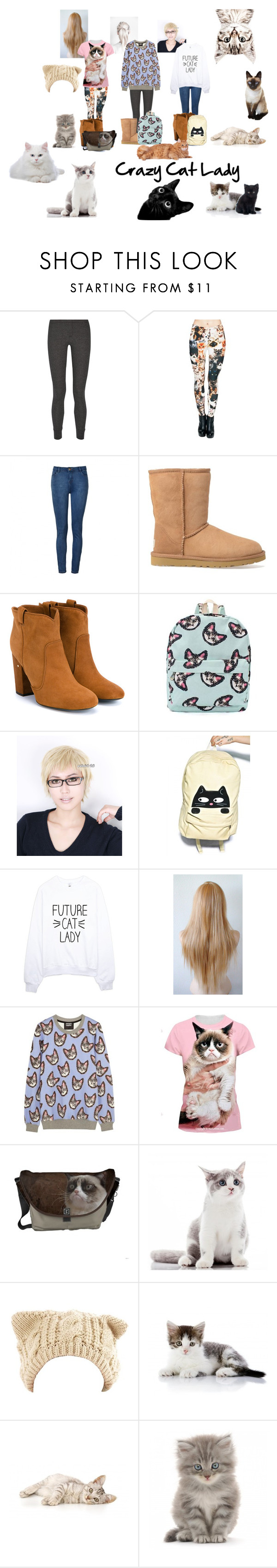 """Crazy Cat Lady"" by eos-anderson ❤ liked on Polyvore featuring Splendid, Ally Fashion, UGG Australia, Laurence Dacade, Comeco, Eloqueen, women's clothing, women, female and woman"