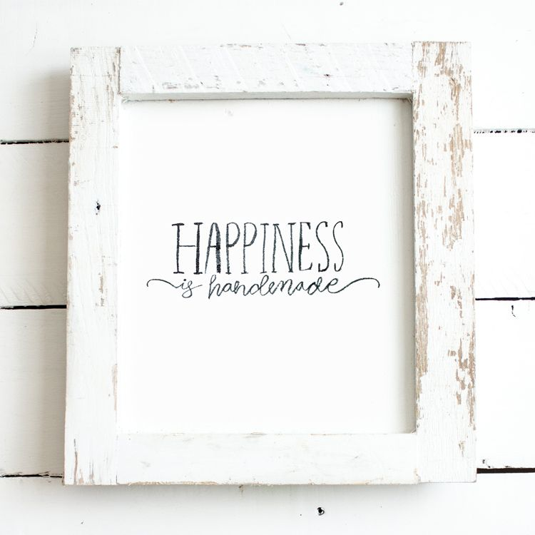 free happiness is handmade handlettered farmhouse kitchen printable handmade kitchen quotes on farmhouse kitchen quotes free printable id=43606