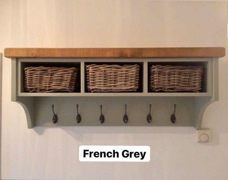 Pin On Hallway, Fyfield Coat Rack With Shelf Storage Baskets White