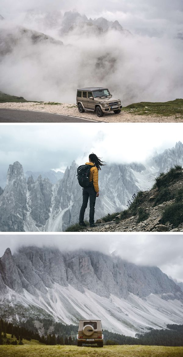 Photographers on the road. The German Roamers have been exploring South Tyrol, along with four friends and two G-Classes. Photo by German Roamers (www.german-roamers.squarespace.com) #MBdolomates #MBphotopass
