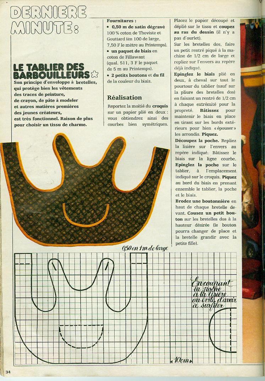 Le tablier des barbouilleurs | Põlled 1 / Aprons 1 | Patron couture ...