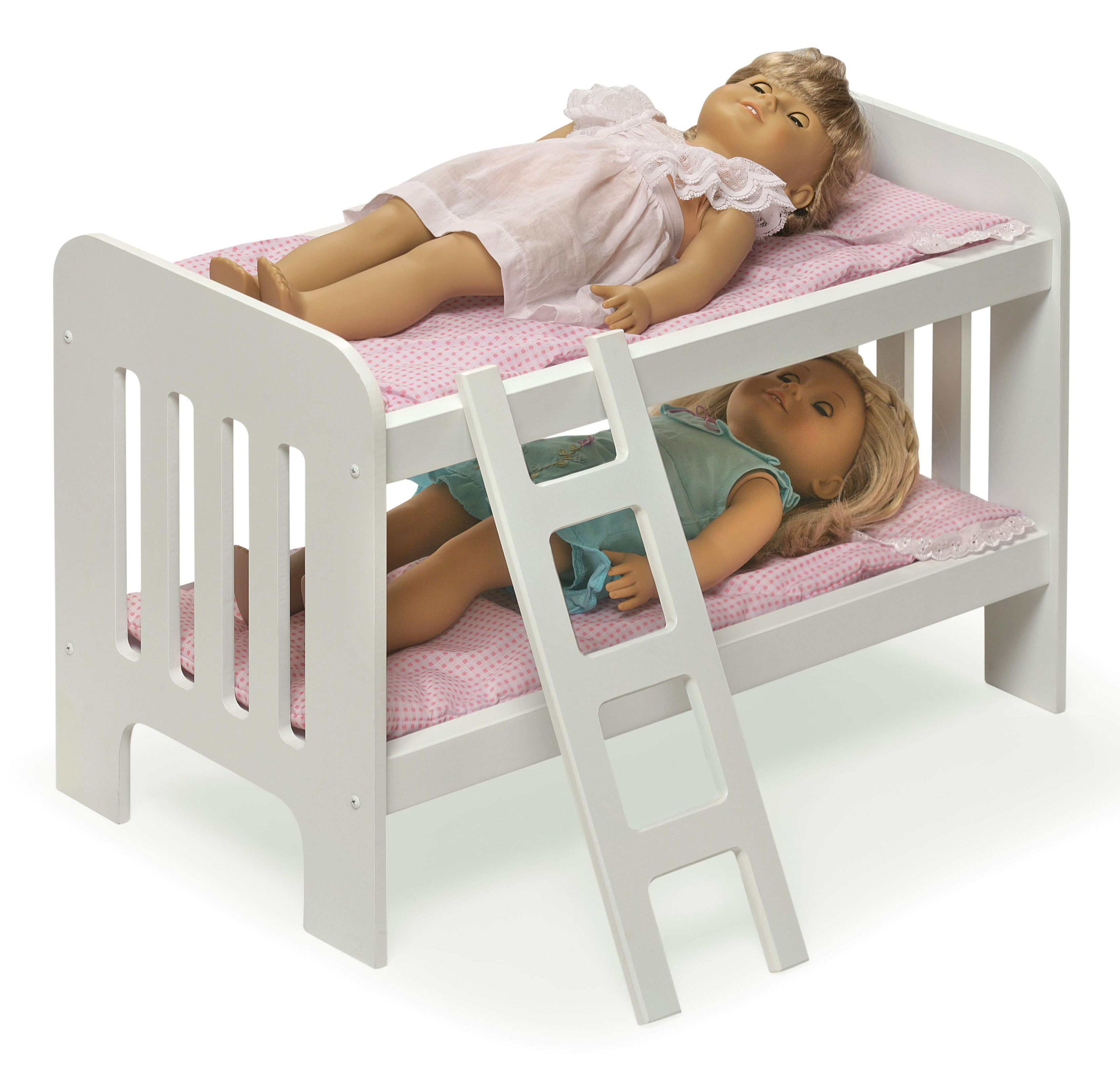 Wondrous Badger Basket Gingham Doll Bunk Bed With Bedding And Ladder Home Interior And Landscaping Ologienasavecom