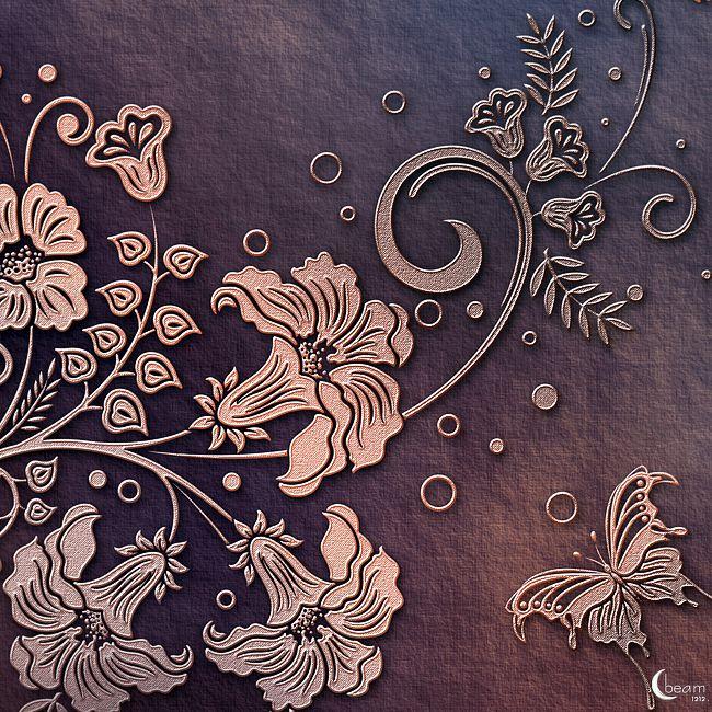 Moonbeam's Dainty Scrolls:Paper Kit