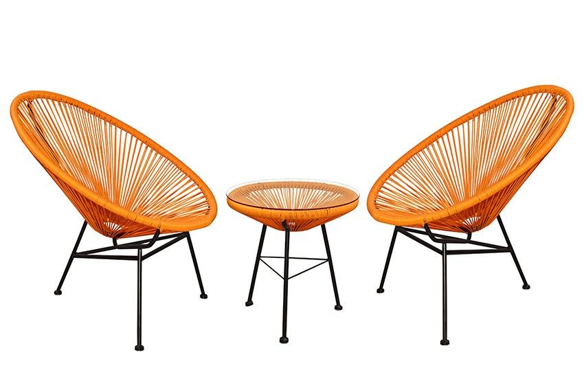 Replica Acapulco Lounge Chair Setting Burnt Orange