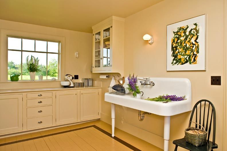 An Artistic Farmhouse Restoration in Maine | Sinks, White sink and ...