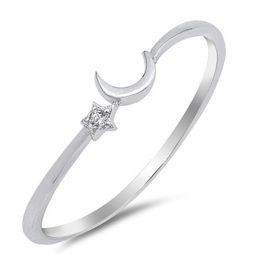 Sterling Silver Woman/'s Clear CZ Flower Ring Promise 925 Band 7mm Sizes 4-10