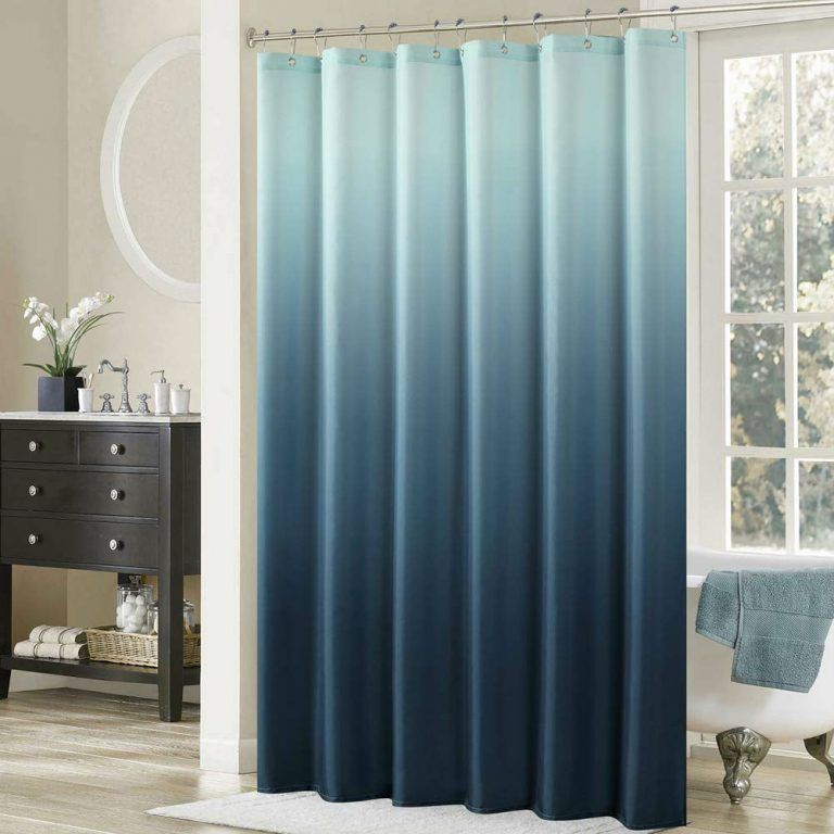 The 6 Best Shower Curtains According To Happy Homeowners Bob Vila Cool Shower Curtains Blue Shower Curtains Ombre Shower Curtain
