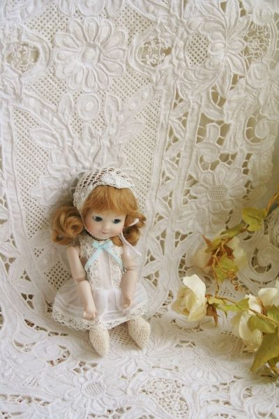 A.M.257 Googly 6inch Tiny All Bisque Doll April 2012