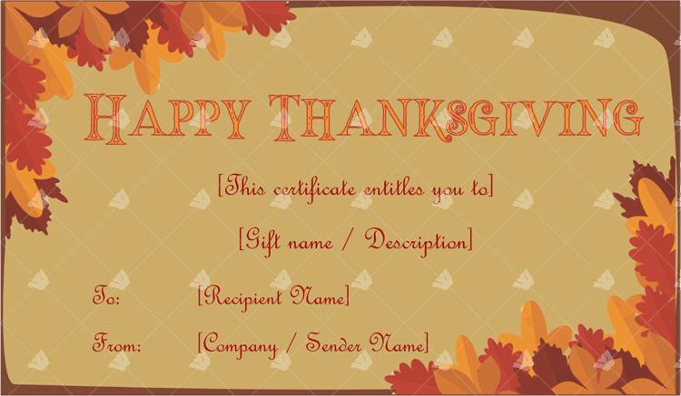 Thanksgiving Gift Certificate Template Autumn Word Layouts Gift Certificate Template Certificate Templates Thanksgiving Gifts