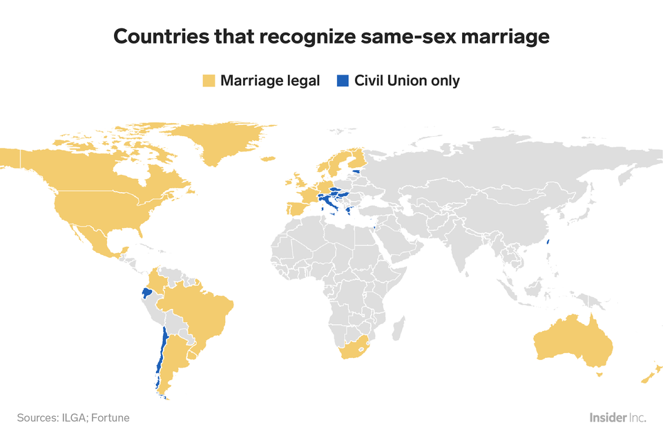 This Map Shows Which Countries Still Haven't Legalized Same