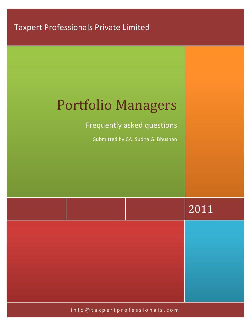 Portfolio Manager By Taxpert Professionals Via Slideshare