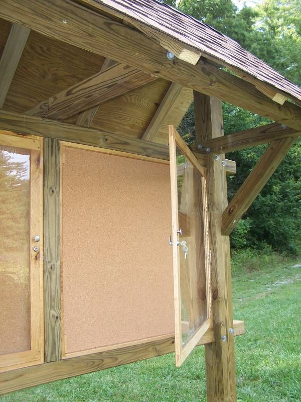How To Build An Enclosed Bulletin Board