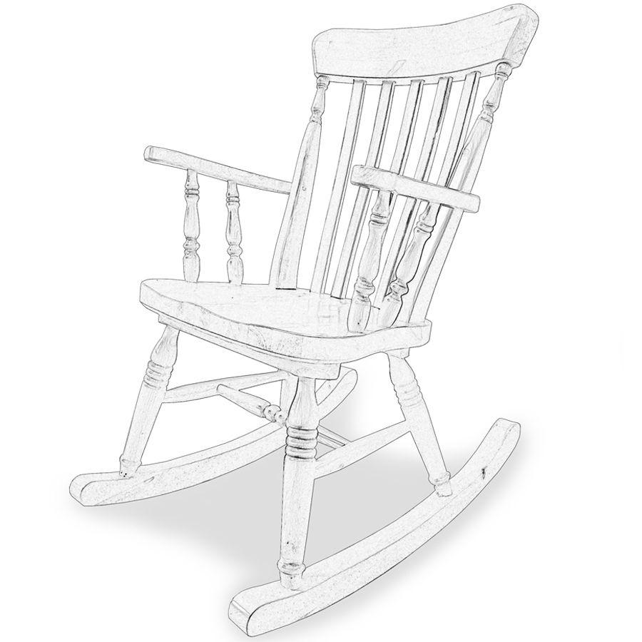 Sedia A Dondolo Classica.Old River Legno Grezzo Raw Wood Chairs Sedie In Legno Grezzo