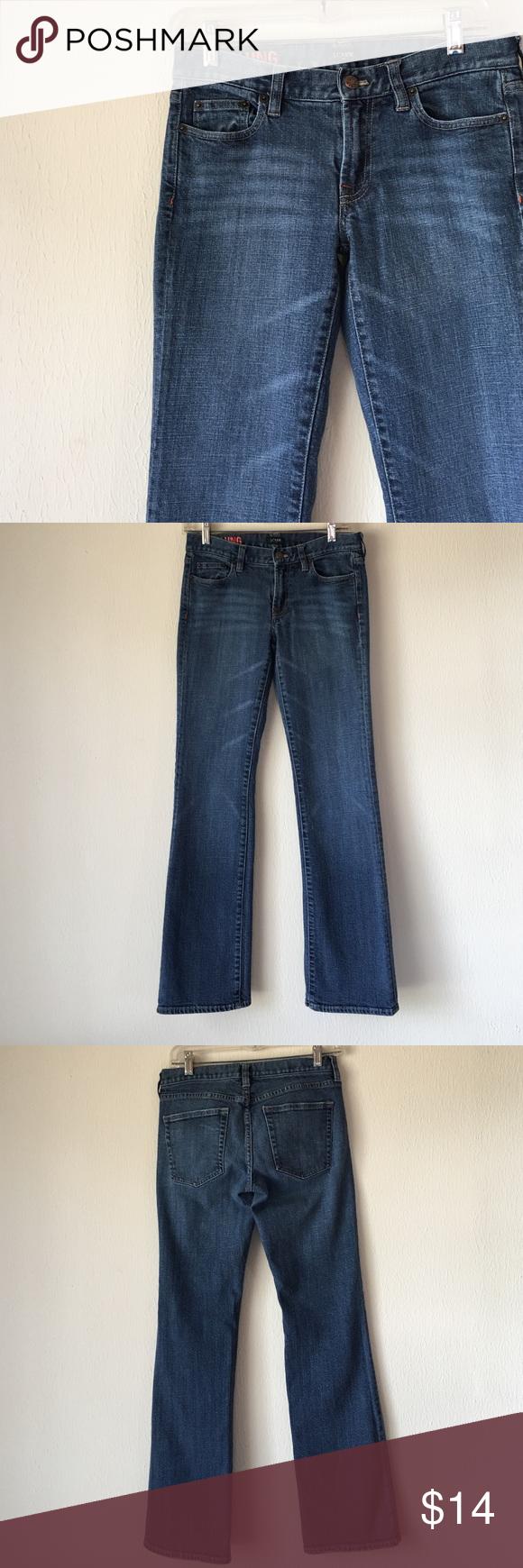 J. Crew hipslung dark wash jeans Excellent condition! 98% cotton, 2% spandex J. Crew Jeans Boot Cut