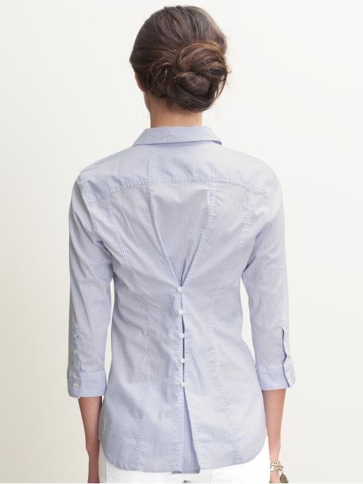 1496daf39 gran idea para ajustar una blusa ancha