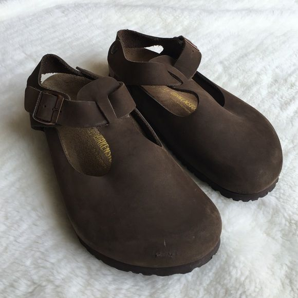 size 40 95dfb 66049 Birkenstock Bonn Brown Clog Size 41 Preowned and like new ...