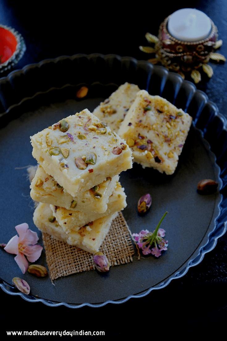 Kalakand With Ricotta Cheese Recipe Sweets Recipes Kalakand Recipe Ricotta Cheese Recipes