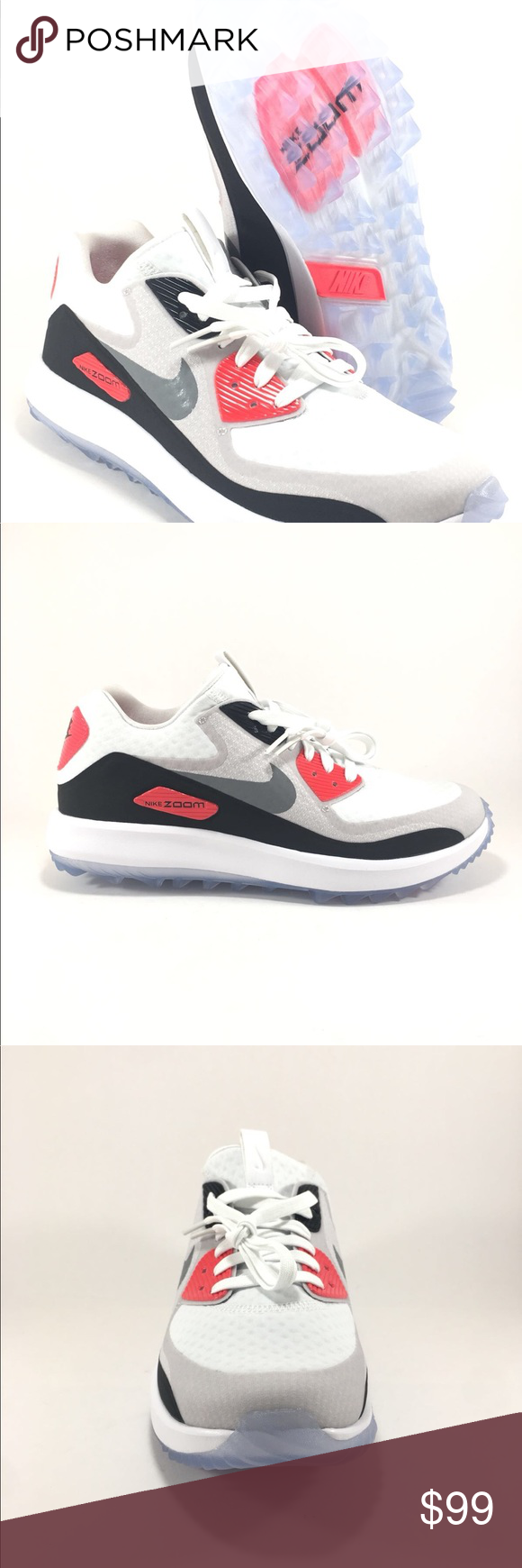 6101acc7159 Nike Air Zoom 90 IT Infrared Golf Shoes Women s 844648-100 Women s golf  shoes Infrared