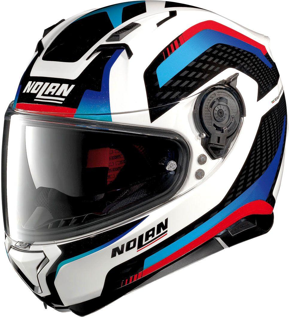 Nolan N87 Arkad Integral Helmet White Black Blue Red Xxs Full Face Helmets Nolan Helmets Helmet