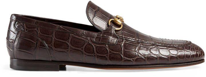 905eb6eca9bb55 Gucci Jordaan crocodile loafer. Gucci Jordaan crocodile loafer Modern Mens  ...