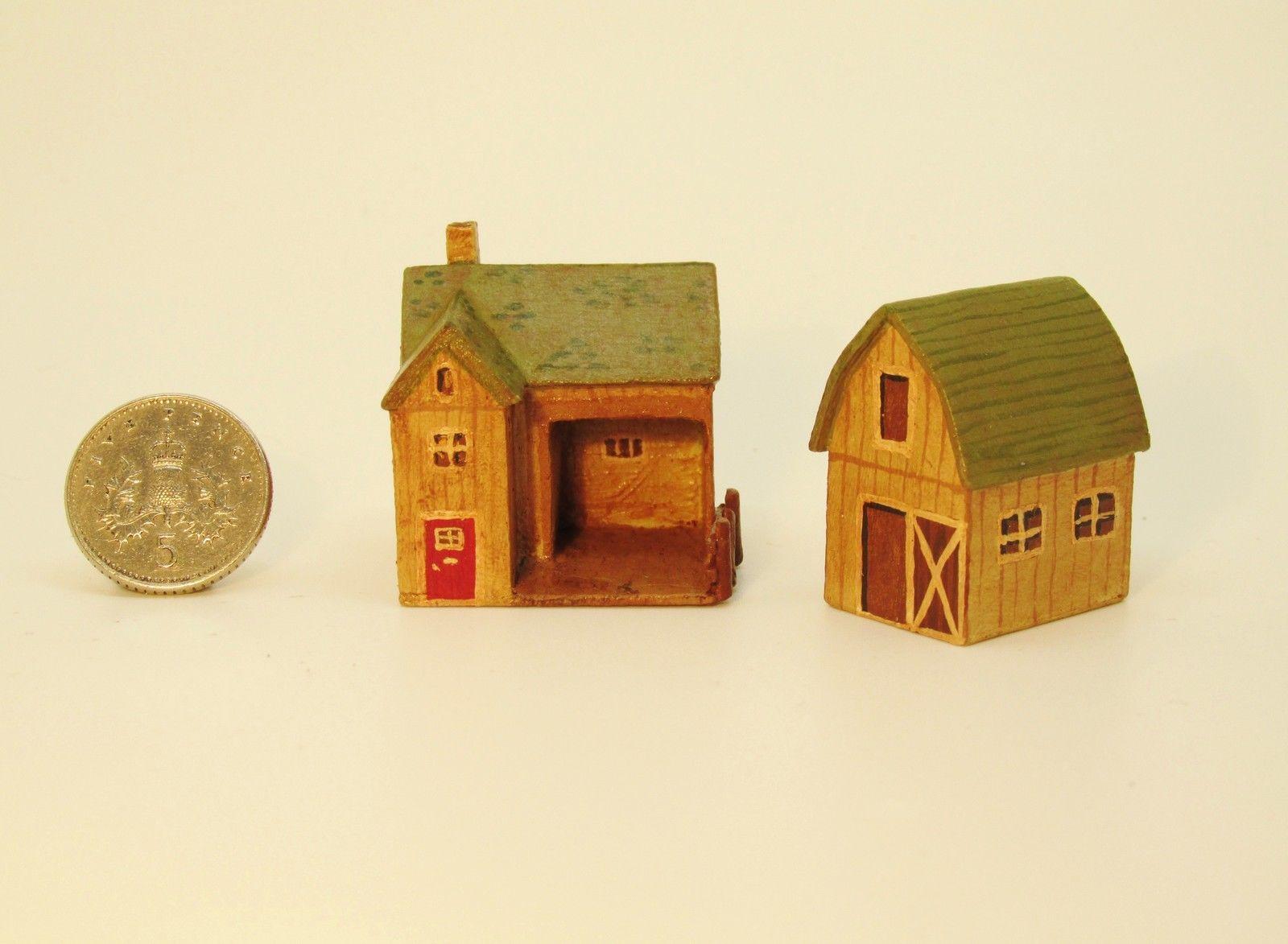 Handmade aged wooden farm scene 11