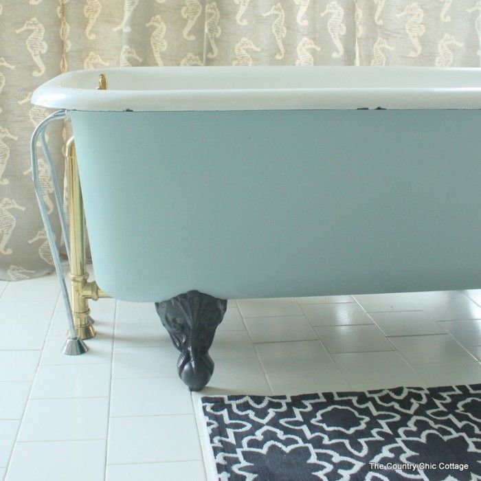 Painting a Claw Foot Tub | Tubs, Bath tubs and Country chic