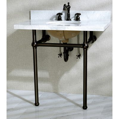 Kingston Brass Templeton 36 Fauceture Console Sink With Overflow Mount Finish Oil Rubbed Bronze Console Sink Contemporary Bathroom Sinks Kingston Brass