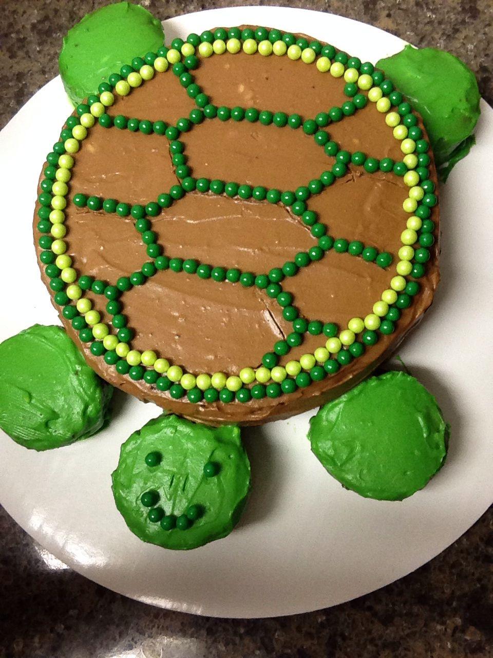 Turtle Birthday Cake Birthdayscakes Pinterest Turtle Birthday