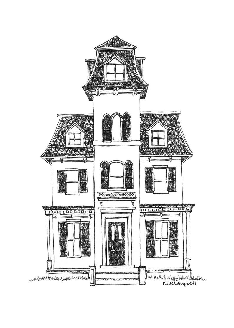 45+ Mansion Clipart Black And White