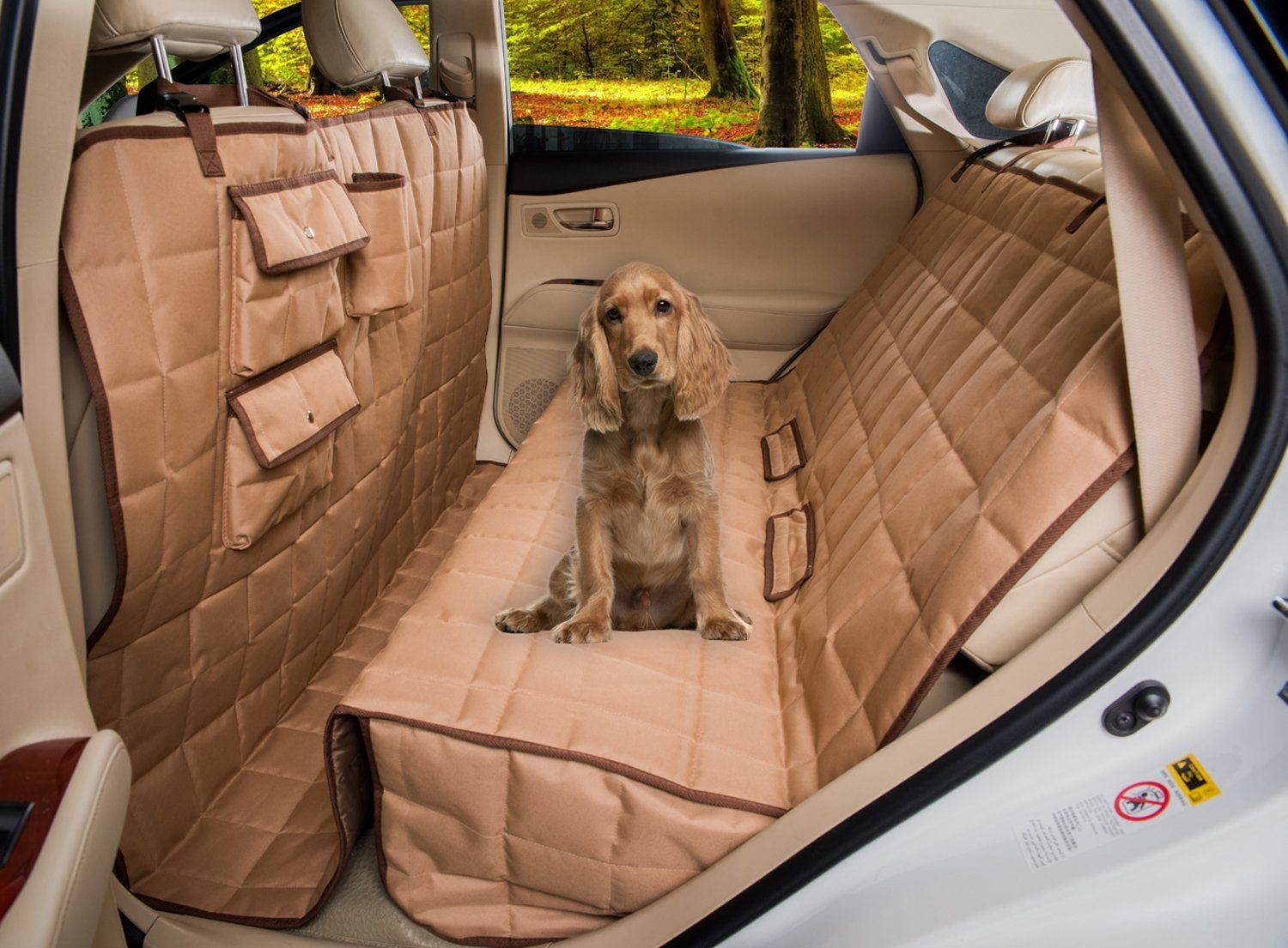 Homeyone Total Coverage Waterproof Dog Pet Travel Back Seat Cover Pad Remarkable Product Available N Dog Car Seat Cover Dog Car Seats Indestructable Dog Bed
